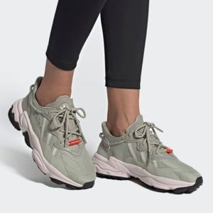 Adidas Osweego TR Shoes in Sesame Bliss Solar Red